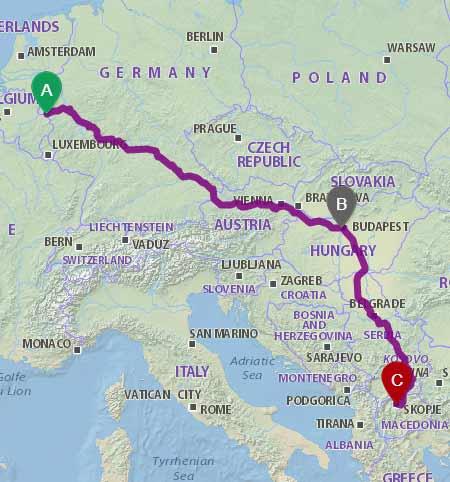 Linjat Gjermani - Maqedoni nepermjet Hungarise