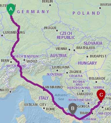 Die Busfahrt wird von Firma Fertours durchgeführt. nach kosovo reisen mit bus