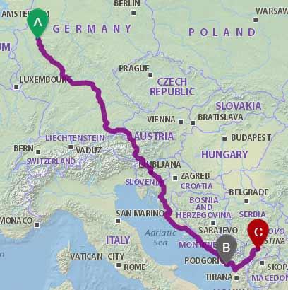 Mit dem Bus nach Tirana via Kroatien
