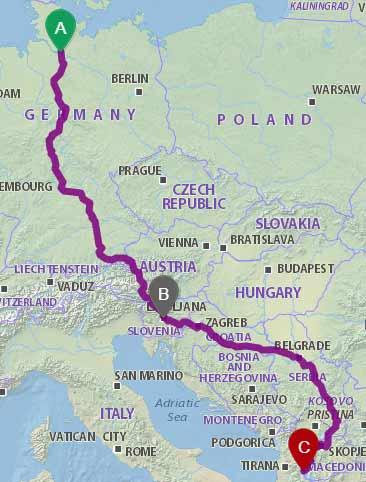 Bus Deutschland-Mazedonien